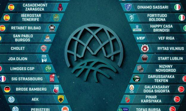 Познати учесниците во ФИБА Лигата на Шампионите