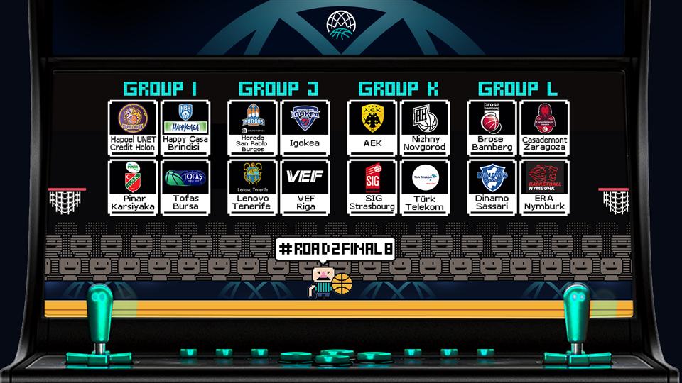 Формирани се групите за плеј-оф фазата во ФИБА Лигата на Шампионите