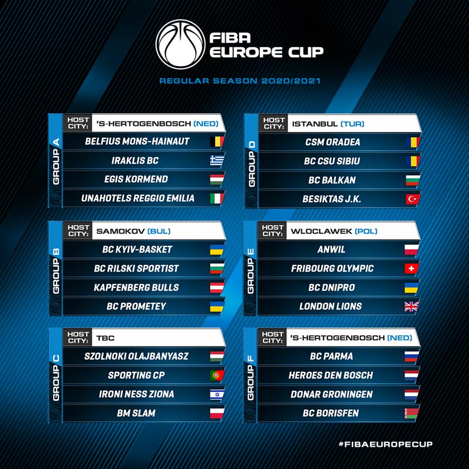 """ФИБА ги одреди организаторите на """"балоните"""" во Евро Купот"""