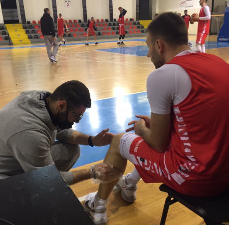 Марко Симоновски на тренинг