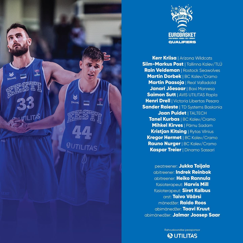 Естонците ги почнуваат мини-подготовките со 16 кошаркари