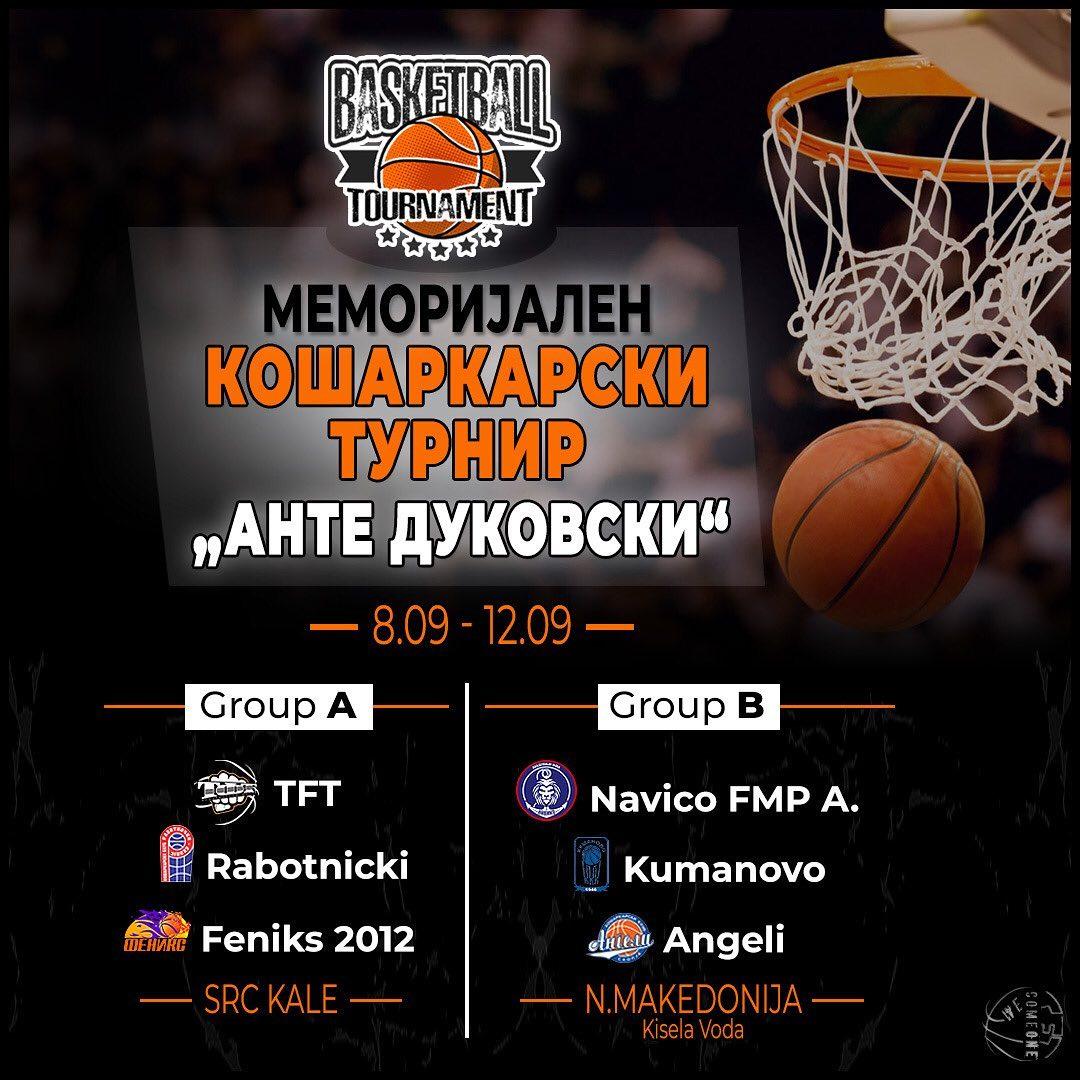 Шест прволигаши ќе играат турнир во чест на Анте Дуковски