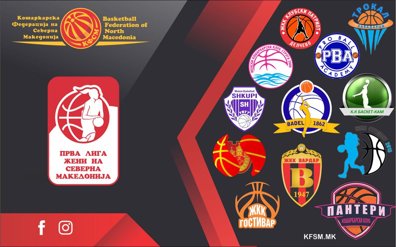 Распоред на натпреварите во Прва лига-жени