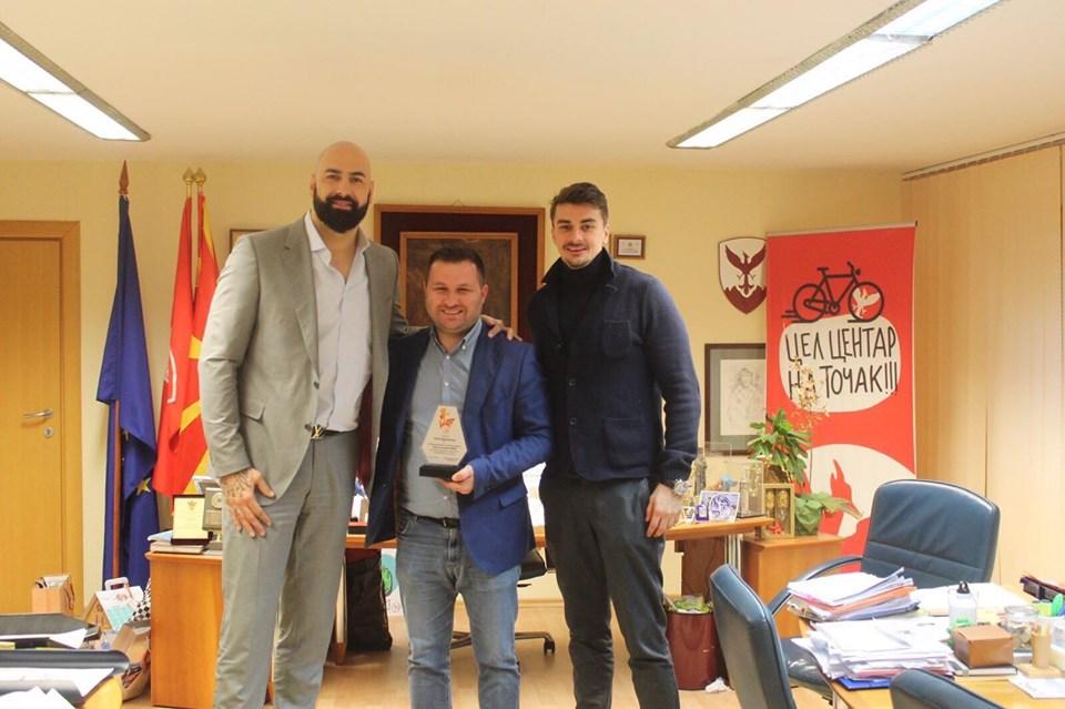 Благодарница за општина Центар за поддршката на проектот Минибаскет лиги
