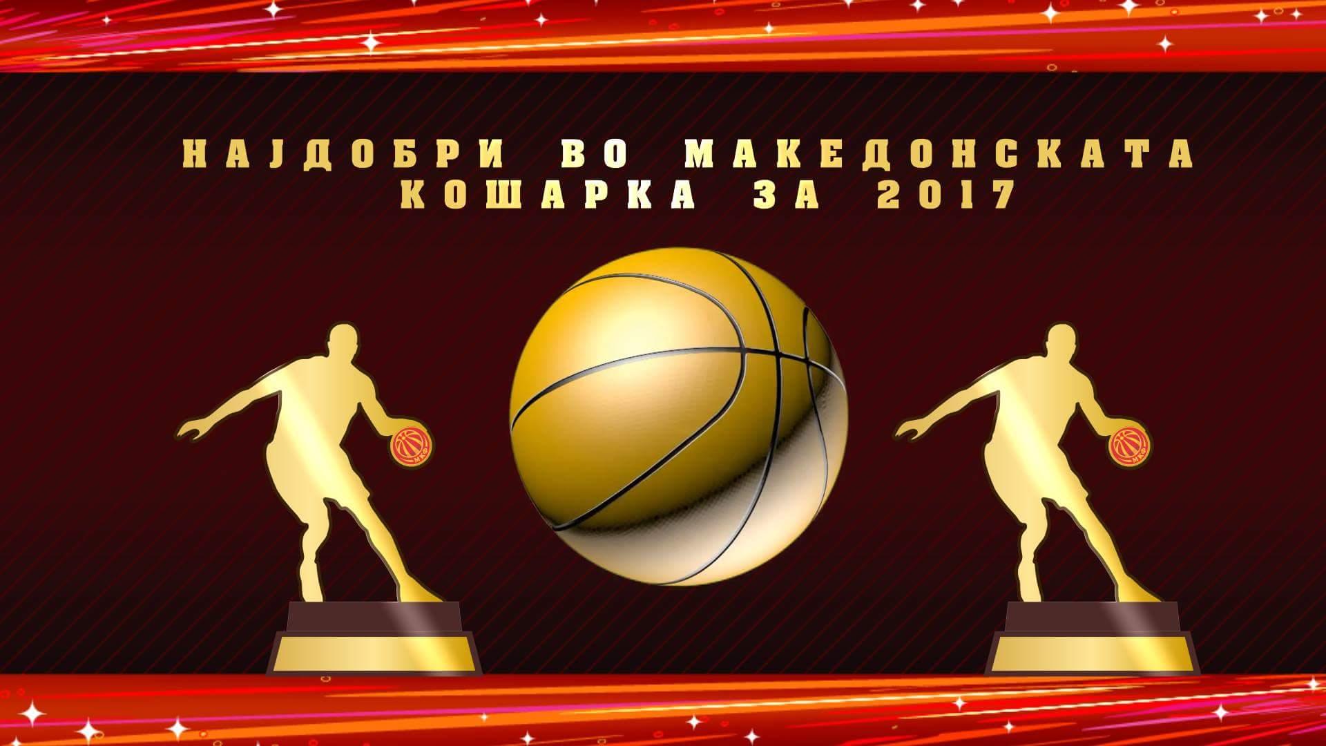 Листа на добитници на признанијата за најдобри во кошарката за 2017 година